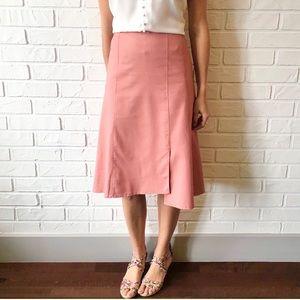 NEW dusty rose high waist a line lightweight skirt